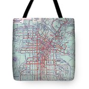 Electric Car And Bus Routes In La  Tote Bag