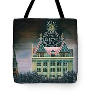 Electric City At Night Tote Bag