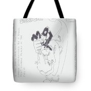 Electric Field Strength Cartoon Tote Bag