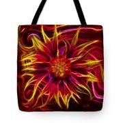 Electric Firewheel Flower Artwork Tote Bag