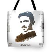 electric generator patent art Nikola Tesla Tote Bag