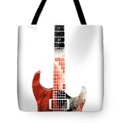Electric Guitar - Buy Colorful Abstract Musical Instrument Tote Bag