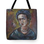 Electric Light Frida Tote Bag