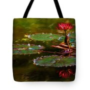 Electric Lily Pad Tote Bag