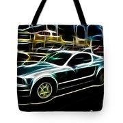 Electric Mustang Tote Bag