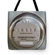Electric Power Supply Watthour Meter Glass Covered Tote Bag