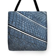 Electric Rail On Portuguese Traditional Pavement Tote Bag