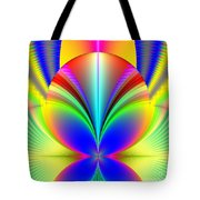 Electric Rainbow Orb Fractal Tote Bag