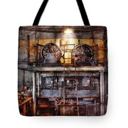 Electrician - Turbine Station Tote Bag by Mike Savad
