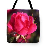 Electron Tea Rose Tote Bag