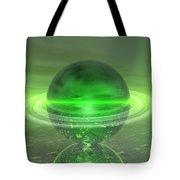 Electronic Green Saturn Tote Bag