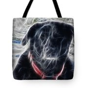Electrostatic Black Lab Tote Bag