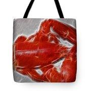 Electrostatic Lobster Tote Bag
