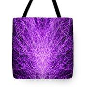 Electrostatic Purple Tote Bag