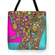 Elefantos - Bg01ac02 Tote Bag by Variance Collections