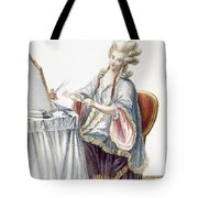 Elegant Lady At Her Dressing Table Tote Bag by Pierre Thomas Le Clerc