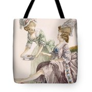 Elegant Lady Having Her Feet Washed Tote Bag