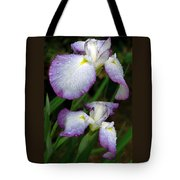 Elegant Purple Iris Tote Bag