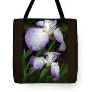 Elegant Purple Iris Tote Bag