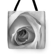 Elegant Rose In Black And White Tote Bag
