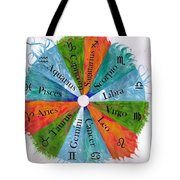 Elements With Zodiac Signs Tote Bag