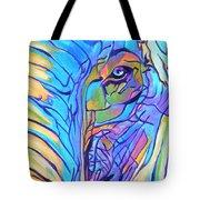 Elephant - Sky Blue Tote Bag