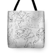 Elephant Acts, 1880s Tote Bag