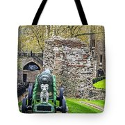 Elephant And Cannon Of The Tower Tote Bag