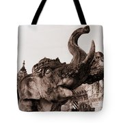 Elephant Architecture Tote Bag