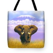 Elephant At Table Mountain Tote Bag