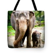 Elephant Baby Olli With Mommy Tote Bag