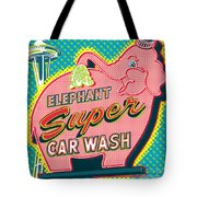 Elephant Car Wash And Space Needle - Seattle Tote Bag