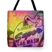 Elephant Car Wash Cubed Tote Bag