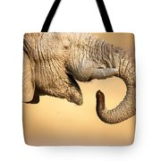 Elephant Drinking Tote Bag
