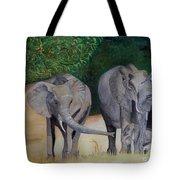 Elephant Family Gathering Tote Bag