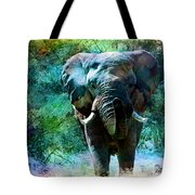 Elephant - Featured In Comfortable Art- Wildlife- And Nature Wildlife Groups Tote Bag
