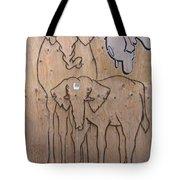 Elephant Graffiti Weekender Bag