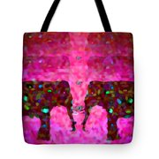 Elephant Impressions In Magenta Tote Bag