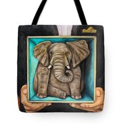 Elephant In A Box Edit 2 Tote Bag
