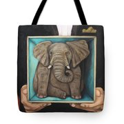 Elephant In A Box Tote Bag