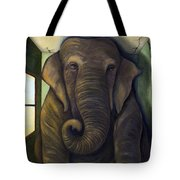 Elephant In The Room Tote Bag