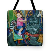Elephant Ride Tote Bag
