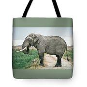 Elephant Roadblock Tote Bag