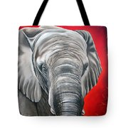 Elephant Six Of Eight Tote Bag