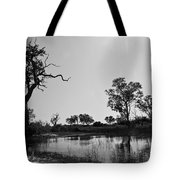 Elephant Skull On Riverbank, Okavango Tote Bag
