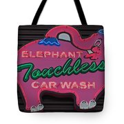 Pink Elephant - Elephant Touchless Car Wash Tote Bag for
