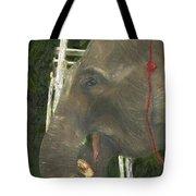 Elephant Under His Thumb Tote Bag