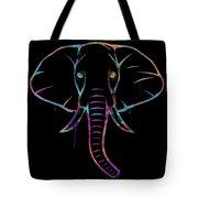 Elephant Watercolors - Black Tote Bag