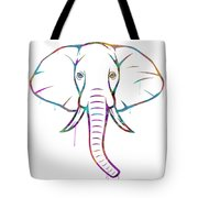 Elephant Watercolors - White Background Tote Bag