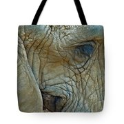 Elephant's Face Tote Bag